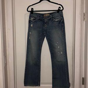 BLE Sabrina boot jeans distressed bling 28.5 hem